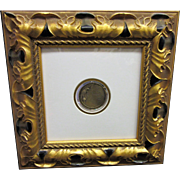 ERTE Bronze Medallion of Quetzal/Parrot by Seven Arts Ltd. /2500 In Lovely Golden Frame