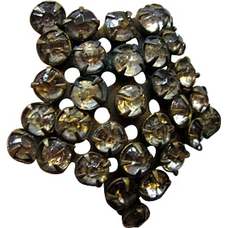 """Large circa 1900 Star Shaped 11"""" long Hat Pin with Paste Stones"""