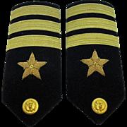 Vintage Naval Commander Epaulets by Hilborn-Hamburger