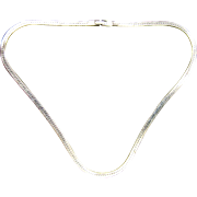 """Sterling Silver Flat Link Chain 20"""" Italy"""