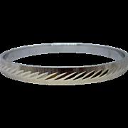 Vintage 1970's MONET Silver Bangle Bracelet