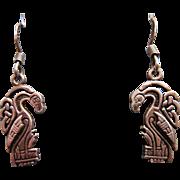 Vintage Sterling Silver Celtic Bird Earrings