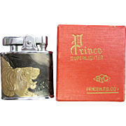 1954 Prince Automatic Super Lighter with Tiger and Dragon Motif in Original Box.