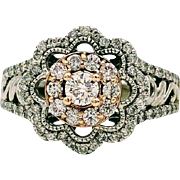 Simply Vera by Vera Wang Diamond Ring 1.00 CTW 14k White Gold & Rose Gold