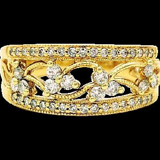 Vintage Helzberg .50 ctw Diamond Ring, 14K Yellow Gold