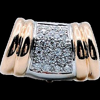 Vintage 18kt 1.5 ctw Omega Slide Pendant