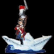 Vintage 1975/Soldier of lead on paper boat/Andersen's tale