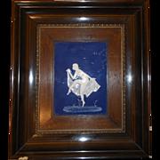 Pane porcelain Limoges / Marcel Chaufriasse / nude dancer