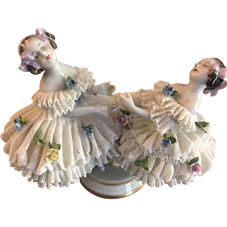 Porcelain Lace Ballerina Figurine. Beautiful in Workmanship and Incredibly Detailed!