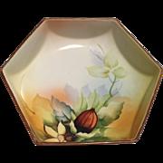 Noritake Footed Bowl Hexagon Shape