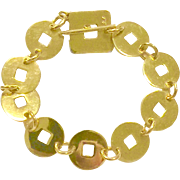 Vintage Solid 18K Katat Yellow Gold Bracelet Made in Italy