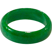 Emerald Green A Grade Jadeite Jade Ring Band