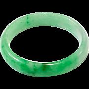 Rare Vintage Natural Color Jadeite Jade Bangle Apple Green