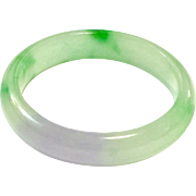 New Vintage 2-Tone Apple Green and Lavender Jadeite Jade Bangle Natural Color
