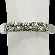 New Old Stock 0.38ct Dismonds 14K White Gold Diamond Ring Anniversary Wedding Band