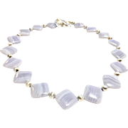 Very Good Quality Blue Lace Agate Necklace