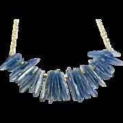 Blue Kyanite Slices Necklace