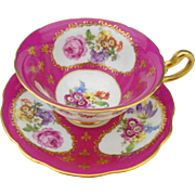 EB Foley Hot Pink teacup duo