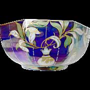 Shelley Aurora Borealis Fruit Bowl, Iridescent jewel enamel fruit bowl