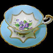Paragon Violets teacup duo