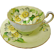Aynsley Dogwood Roses teacup duo