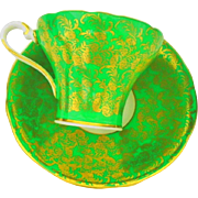 1 Aynsley corset gold teacup duo, Green