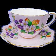 Paragon bramble fruit flower mauve pink teacup duo