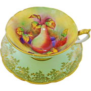 Paragon candied Fruit rainbow teacup duo, wide
