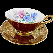 Royal Albert blue & pink sweet pea avon tea cup and saucer