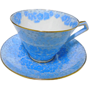 Paragon vogue Hydrangea chintz teacup duo, 2 shades of blue
