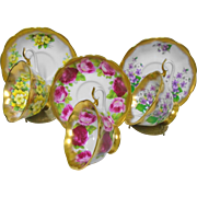 3 Royal Albert treasure chest avon teacup duo set