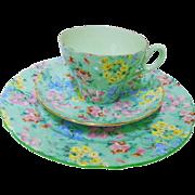 Shelley cambridge Melody chintz teacup trio