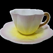 Wileman Shelley dainty teacup duo, rainbow