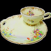 Paragon art deco style MERRIVALE teacup Snack plate set