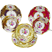 3 Royal Chelsea Rose Cartouche wide teacup duo set