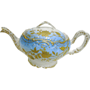 A Klingenberg Limoges gold encrusted bird teapot