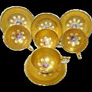 4 Aynsley Bailey teacup duo Set, ultimate gold encrusted luxury