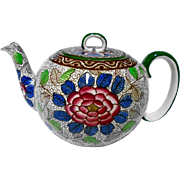 Antique Royal Doulton tea pot Burslem pottery small teapot c.1891