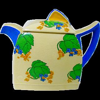 Royal Doulton art deco hand painted  tea pot