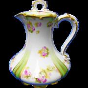 GDA Limoges Theodore Haviland Tea pot, water jug, cocoa pot