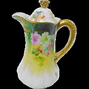 LRL Limoges France Cocoa Pot, tea pot, chocolate pot, coffee pot