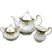 Royal Albert ASCOT tea pot creamer & sugar bowl