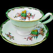 Royal Albert avon parrot lovejoy tea cup and saucer