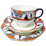 Star Paragon silhouette tea cup and saucer trio