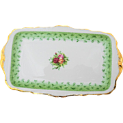 Royal Albert Old country roses green large sandwich tray