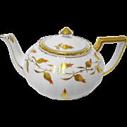 Royal Chelsea Golden Jade red small tea pot