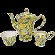 James Kent Primula primrose tea coffee pot set