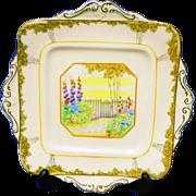 Royal Paragon Garden Gate cake plate