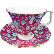 Royal Albert Tapestry Rose tea cup and saucer