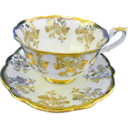 Royal Albert avon gold glitter tea cup and saucer